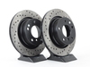 T#12145 - 34216766219CD - Cross-Drilled Brake Rotors - Rear - E85 Z4 3.0i, Z4 3.0si (pair) - StopTech - BMW