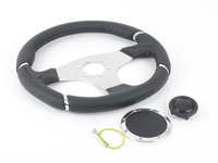 MOMO Millenium Steering Wheel - Black - 350mm