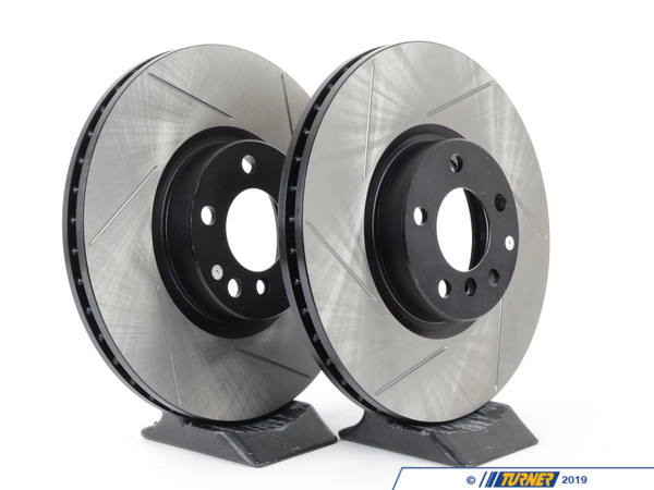 T#210963 - 34116771986GS - Gas-Slotted Brake Rotors (Pair)- Front - E70 X5, E71 X6 - StopTech - BMW