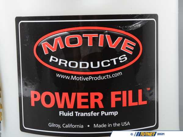 T#389016 - 1735 - Power Fill Pro Fluid Transfer Pump - 1 Gallon - Motive - BMW MINI
