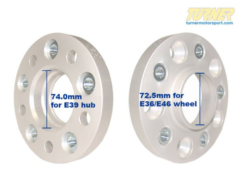 3075740725 E39 15mm H Amp R Wheel Adapter Set To Fit E36 E46