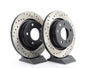 T#3744 - 34211165563CD - Cross-Drilled Brake Rotors - Rear - E46 325i/328i (pair) - StopTech - BMW
