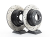 T#12140 - 34216765458CD - Cross-Drilled Brake Rotors - Rear - E53 X5 3.0i 00-06, X5 4.4i 00-03 - StopTech - BMW