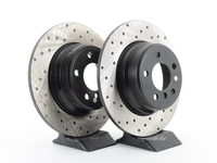 Cross-Drilled Brake Rotors - Rear - E53 X5 3.0i 00-06, X5 4.4i 00-03