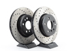 T#210948 - 34113400151CD - Cross-Drilled Brake Rotors - Front - E83 X3 2004-2010 (pair) - Direct replacement cross-drilled brake discs. These rotors feature a unique black electro-coating that is designed to prevent corrosion. Each rotor is e-coated then double-ground and balanced to ensure an even surface with no vibration. The e-coating is the best anti-corrosion protection currently available in replacement rotors. Most aftermarket rotors are not coated, allowing surface rust to form right away, which is unattractive when brakes can be seen through your wheels. A cross-drilled rotor helps to release gases that build up between the rotor surface and an out-gassing brake pad. Without an escape, this thin layer of gas will cause a delay until the pad cuts through gas layer. The holes in our rotors allow the gases to escape, giving better braking performance and a sportier look. This item fits the following BMWs:2004-2005 X3 2.5i & 3.0i (2.5 and 3.0 liter)2006-2007 X3 3.0i (3.0 liter)2008-2010 X3 3.0 Si (3.0 liter) - StopTech - BMW