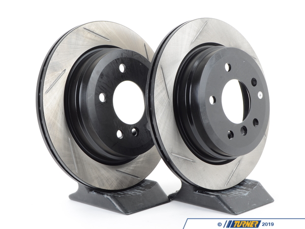 T#2758 - 34216764653GS - Gas-Slotted Brake Rotors (Pair) - Rear - E9X 325Xi/328Xi, E91 328i, E93 328i - StopTech - BMW