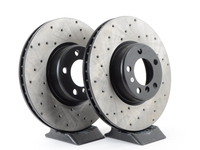 Cross-Drilled Brake Rotors - (340x30)(pair) - Front - F22 M235i M235iX, F30 335i 335iX, F32 435i 435iX
