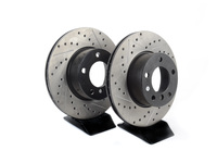 Cross-Drilled & Slotted Brake Rotors - Front - E39 525i/528i (pair)