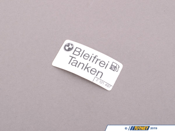 "T#80865 - 51142121497 - Genuine BMW Label ""Unleaded Fuel"" - 51142121497 - E30,E34,E34 M5 - Genuine BMW -"