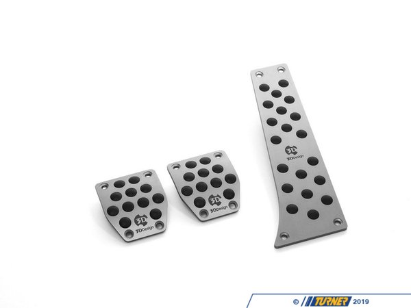 T#390579 - 6102-00211 - 3D Design Aluminum Pedal Set - Manual - 3D Design - BMW