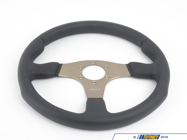 T#1869 - RCE35BK1B - MOMO Race Steering Wheel - Silver - 350mm - MOMO - BMW MINI