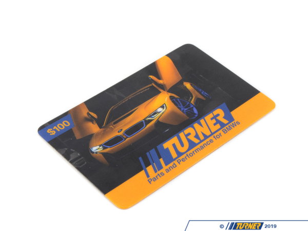 T#341841 - GC100TMS - Turner Motorsport Gift Card - $100 - Turner Gift Cards - BMW MINI