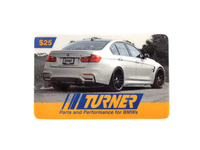 T#341838 - GC25TMS - Turner Motorsport Gift Card - $25 - Turner Gift Cards - BMW MINI