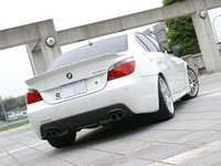 E60 528/535/550 M Sport 3D Design Carbon Fiber Rear Diffuser - Quad Exhaust