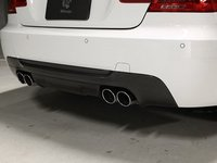 E92/E93 335 M Sport 3D Design Carbon Fiber Rear Diffuser - Quad Exhaust