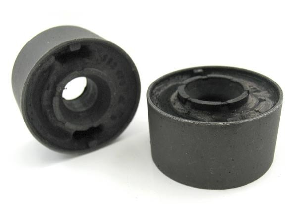 T#516 - 31129069035 - OEM Lemforder Front Control Arm Bushings - E30, E36, E36 M3, Z3 - Anytime that you replace your front control arms you must replace your control arm bushings. The reason is because it's hard to tell if you're bushings are really bad and they are often destroyed when removed. These are the control arm bushings from the 1996-1999 E36 M3 and have the hole in the center.These are the stock bushings bushings from the 1996-99 E36 M3 and MZ3 but are a great upgrade for any E30 - 318/325, E36 - 325/323/328, and Z3 -1.9, 2.3, 2.5, 2.8, 3.0. They have more rubber than the non-M stock bushings. We have found the increased volume of rubber helps the bushings last longer and have better steering response due to less deflection of the bushing. These bushings can actually help reduce vibrations produced by the mass of larger wheels or brakes.OEM Lemfrder is an engineering company that focuses on high-quality, precision manufacturing of critical suspension and steering components. Providing exceptionally high quality parts directly to BMW, as well as 50+ other big name automotive companies, such as Mercedes and Audi, their history of reliability and variety of offered parts makes them one of the biggest names for a go-to OEM parts provider. Lemfrder parts place an important emphasis on design, production, and assembly, ensuring maximum reliability. They even coat all parts possible with corrosion protection for extended longevity.As a leading source of high performance BMW parts and accessories since 1993, we at Turner Motorsport are honored to be the go-to supplier for tens of thousands of enthusiasts the world over. With over two decades of parts, service, and racing experience under our belt, we provide only quality performance and replacement parts. All of our performance parts are those we would (and do!) install and run on our own cars, as well as replacement parts that are Genuine BMW or from OEM manufacturers. We only offer parts we know you can trust to perform!This item fits the following BMWs:1984-1991  E30 BMW 318i 318is 318ic 325e 325es 325i 325ic 325is1992-1999  E36 BMW 318i 318is 318ti 318ic 323is 323ic 325i 325is 325ic 328i 328is 328ic1996-1999  E36 BMW M31997-2002  Z3 BMW Z3 1.9 Z3 2.3 Z3 2.5i Z3 2.8 Z3 3.0i M Coupe M Roadster - Lemforder - BMW