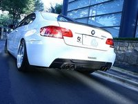 T#390512 - 3108-19211 - E92/E93 335 M Sport 3D Design Carbon Fiber Rear Diffuser - Dual Exhaust - 3D Design - BMW