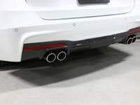 F30 335 M Sport 3D Design Carbon Fiber Rear Diffuser - Quad Exhaust