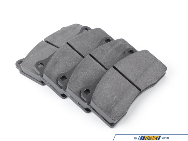 T#1642 - TMS1642 - Brembo Calipers F40, F50, B, H, GT1 - Race Brake Pad Set - Hawk HT10 - Hawk HT10 race pads have intermediate torque and temperature compound and smooth initial bite. Very consistent pedal feel. Excellent modulation and release characteristics. These pads are intended for track-use only due to the very high temperature ranges that they work in. The stopping power that these pads give when hot exceeds nearly everything else on the market.This pad set fits the following Brembo 4-piston calipers:F40 / F50 / Type B / Type H / GT1 / Monobloc PF40 calipers are found in many Brembo GT Big Brake Kits, including these BMW models:2008-2012  E82 BMW 128i 135i 1M Coupe1992-1998  E36 BMW 318i 318is 318ti 318ic 323is 323ic 325i 325is 325ic 328i 328is 328ic M31999-2005  E46 BMW 323i 323ci 325i 325ci 325xi 328i 328ci 330i 330ci 330xi M32006-2011  E90 BMW 325i 325xi 328i 328xi 328i xDrive 330i 330xi 335d 335i 335xi 335i xDrive M3 - Sedan2006-2012  E91 BMW 325xi 328i 328xi 328i xDrive - Wagon2007-2013  E92 BMW 328i 328xi 328i xDrive 335i 335is 335xi 335i xDrive M3 - Coupe2007-2013  E93 BMW 328i 335i M3 - Convertible2012+ F30 BMW 328i 335i - Sedan1989-1995  E34 BMW 525i 530i 535i 540i M51997-2003  E39 BMW 525i 528i 530i 540i M52004-2010  E60 BMW 525i 525xi 530i 530xi 528i 528xi 528i xDrive 535i 535xi 535i xDrive 545i 550i M52010+  F07 BMW 535i GT, 535i xDrive GT, 550i GT, 550i xDrive GT2011+  F10 BMW 528i 535i 535i xDrive 550i 550i xDrive M52004-2011  E63 BMW 645ci 650i M62012+  F13 BMW 640i 650i1988-1994  E32 BMW 735i 735il 740i 740il 750il1995-2001  E38 BMW 740i 740il 750il2002-2008  E65 BMW 745i 745li 750i 750li 760i 760li2009+ F01 BMW 740i 740li 750i 750li 750i xDrive 750li xDrive 760li1990-1999  E31 BMW 840i 840ci 850i 850ci 850csi2004-2010  E83 BMW X3 2.5i X3 3.0i X3 3.0si2011+  F25 BMW X3 xDrive28i X3 xDrive35i2000-2006  E53 BMW X5 3.0i X5 4.4i X5 4.6is X5 4.8is2007-2013  E70 BMW X5 3.0si X5 4.8i X5 xDrive30i X5 xDrive35d X5 xDrive35i X5 xDrive48i X5M2008+  E71 BMW X6 xDrive35i X6 xDrive50i X6M1997-2002  Z3 BMW Z3 1.9 Z3 2.3 Z3 2.5i Z3 2.8 Z3 3.0i M Roadster M Coupe2003-2008  E85 BMW Z4 2.5i Z4 3.0i Z4 3.0si Z4 M Roadster M Coupe2009+  Z4 BMW Z4 sDrive30i Z4 sDrive35i Z4 sDrive35is - Hawk - BMW