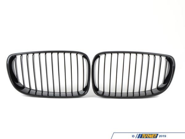 T#4525 - BM-0201 - Carbon Fiber Center Grills - E82 128i 135i 1M - ECS - BMW