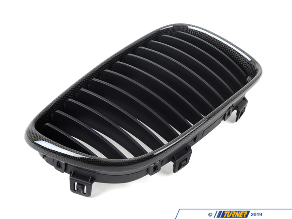T#4525 - BM-0201 - Carbon Fiber Center Grills - E82 128i 135i 1M - Turner Motorsport - BMW
