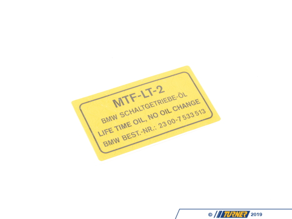 T#49644 - 23007533514 - Genuine BMW Stick-on Label, Transmission - 23007533514 - Genuine BMW -