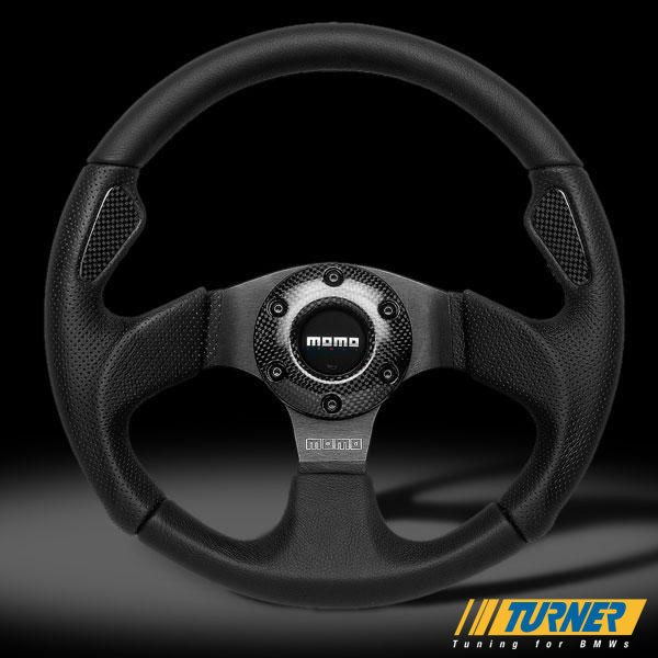 T#1868 - JET35BK0Black - MOMO Jet Steering Wheel - Black - 350mm - MOMO - BMW
