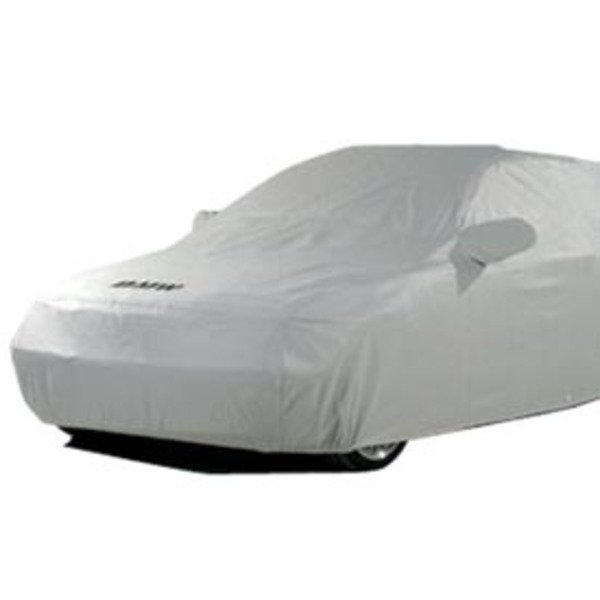 "T#5682 - 82111470385 - Genuine BMW Car Cover - BMW E36 318i/is/ic 325i/is/ic 328i/is/ic M3 -  Get a car cover that is custom fit for your BMW, not some generic one size fits all available from other suppliers. This Genuine BMW car cover is custom fit specifically for the E36 3 series chassis. It features the BMW lettering on the front. NOAH barrier fabric actually stops water, yet it ""breathes"" to allow any trapped moisture, seam seepage or condensation to easily evaporate.  The unique construction process (patent pending) results in a cover with maximum all-weather protectionhighly water resistant, dust resistant, UV resistant and breathable to make sure moisture and/or heat don't stay under the cover.  Made in the U.S. the fabric weighs only 4.75 oz./sq. yd., so it's easy to handle and fold.Protective Outer Layers - A bi-component spunbond, using sheath-core technology.  The inner core is polypropylene for strength, with a polyethylene wrap for softness.  A silver-gray color was selected because of its heat-resistant properties.  The fabric is also treated with UV inhibitors for extended outdoor use.Micro-Porous Middle Layer - The barrier layer is breathable film, a proprietary stretch-film technology.  The film is stretched and subjected to a chemical process that creates microscopic holes smaller than droplets of water or dust, yet large enough to allow moisture vapor to escape.Soft, Paint-Protecting Inner Layer - A bi-component fabric made with polyethylene and nylon.  This combination results in an exceptionally high strength-to-weight ratio, with the ""soft touch"" necessary for today's water-based paint finishes.This item fits the following BMWs:1992-1998  E36 BMW 318i 318is 318ic 323is 323ic 325i 325is 325ic 328i 328is 328ic M3Not for 318ti. - Genuine BMW - BMW"