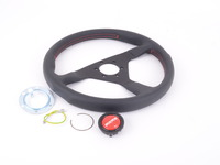 MOMO Monte Carlo Steering Wheel - Red - 350mm