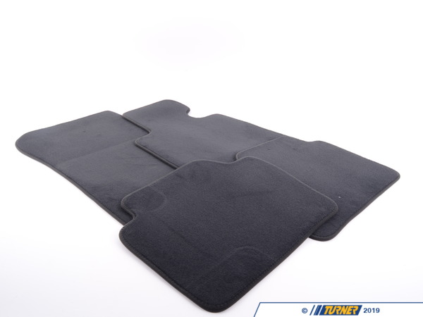 T#24119 - 51477332077 - Genuine BMW Set Of Floor Mats Velours - 51477332077 - Anthrazit - Genuine BMW -