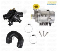 T#340364 - TMS206099 - Water Pump and Thermostat Package - N51/N52 Engine - E82 128i, E9X 325i/328i/330i, E60 528i - Packaged by Turner - BMW