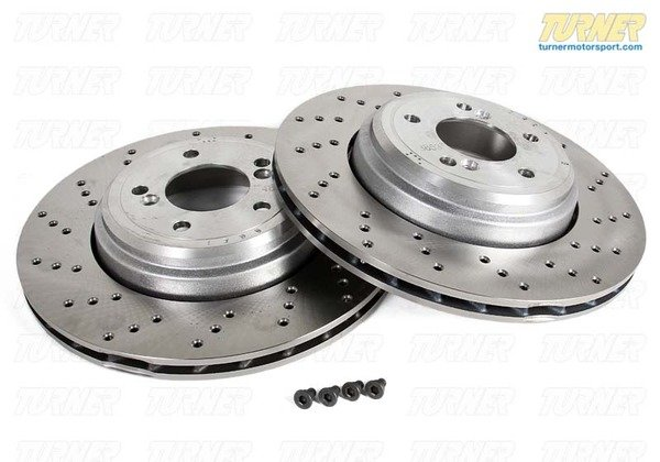 T#340280 - TMS2357 - Rear Brake Rotors - E9X M3 2008-later - Packaged by Turner - BMW