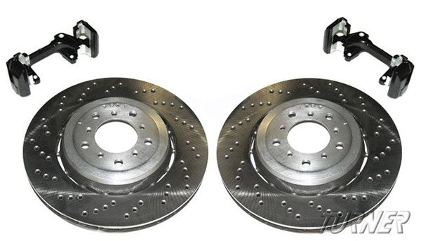 T#338741 - E46M3CSLBRAKE - Front CSL/ZCP Cross-Drilled & Floating Rotor Upgrade - E46 M3 US/Euro - Packaged by Turner - BMW