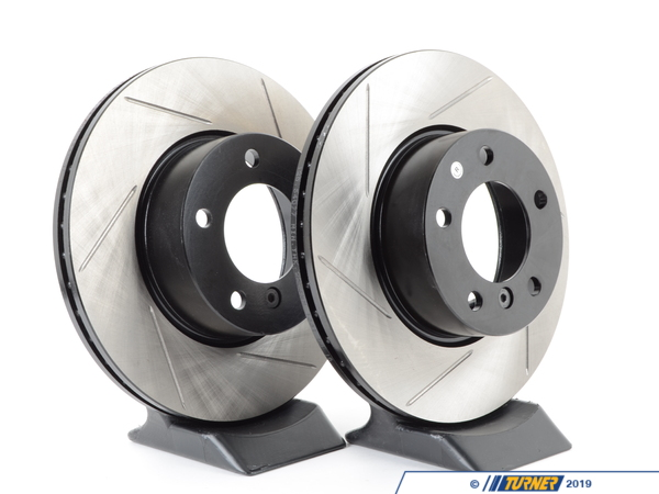 T#2247 - 34116772669GS - Gas-Slotted Brake Rotors (Pair) - Front - E82, E9X - StopTech - BMW
