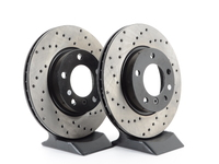 Cross-Drilled Brake Rotors - Front - E36 (except M3), E46 323i/Ci, Z3 (except M) (pair)