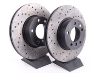 T#213590 - 34116792219CD - Cross-Drilled Brake Rotors - (312x24)(Pair) - Front - F30 320i, 328i, F22 228i, F32 428i - StopTech - BMW