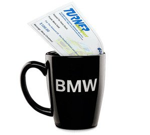 Genuine BMW Coffee Mug & $100 Turner Motorsport Gift Certificate