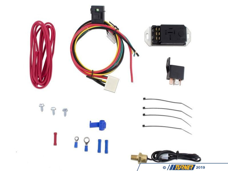 Electric Fan Wiring Kit Adjustable Probe Style