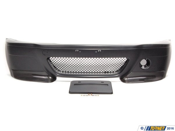 "T#338728 - TMS1905 - Replica E46 M3 ""CSL Inspired"" Front Bumper Spoiler (Coupe or Sedan) - Turner Motorsport - BMW"