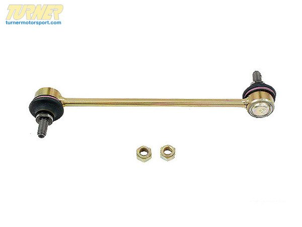 T#12521 - 31352227203 - OEM Lemforder Front Sway Bar Link - E36 M3, MZ3 - Ball-joint failure in the front sway bar / swaybar link on the E36 M3, M Roadster and M Coupe is something that can't be avoided. If you are looking for a direct replacement Lemforder is an OEM supplier to BMW. How do you know if the link has gone bad? From inside the car you will hear a clunking noise when going over bumps. The clunk is a sure sign a ball joint (control arm, tie rod, swaybar link) has failed. Diagnosis with a set of channel-lock pliers will reveal a large amount of play in the ball joint itself.OEM Lemfrder is an engineering company that focuses on high-quality, precision manufacturing of critical suspension and steering components. Providing exceptionally high quality parts directly to BMW, as well as 50+ other big name automotive companies, such as Mercedes and Audi, their history of reliability and variety of offered parts makes them one of the biggest names for a go-to OEM parts provider. Lemfrder parts place an important emphasis on design, production, and assembly, ensuring maximum reliability. They even coat all parts possible with corrosion protection for extended longevity.As a leading source of high performance BMW parts and accessories since 1993, we at Turner Motorsport are honored to be the go-to supplier for tens of thousands of enthusiasts the world over. With over two decades of parts, service, and racing experience under our belt, we provide only quality performance and replacement parts. All of our performance parts are those we would (and do!) install and run on our own cars, as well as replacement parts that are Genuine BMW or from OEM manufacturers. We only offer parts we know you can trust to perform!This item fits the following BMWs:1995-1998  E36 BMW M31996-2002  Z3 BMW M Roadster M Coupe - Lemforder - BMW