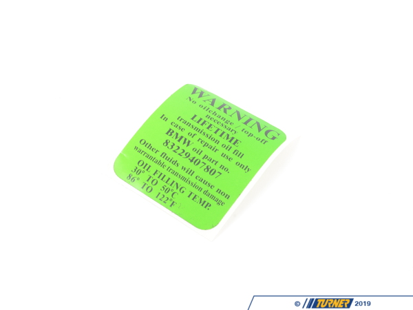 T#51363 - 24111423619 - Genuine BMW Stick-On Label - 24111423619 - E39,E46,E85 - Genuine BMW -