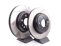 Gas-Slotted Brake Rotors (Pair) - Front - F10 F12 F06