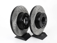 Cross-Drilled & Slotted Brake Rotors - Front - F30 320i, 328i, F22 228i, F32 428i