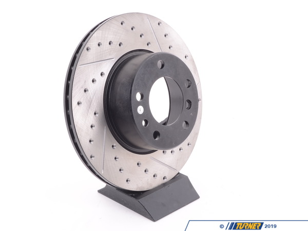 T#300168 - 127.34024L 936 - Turner-Stoptech Cross-Drilled and Slotted Left Brake Rotor - Centric -