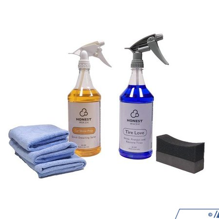 T#392965 - HWKT-13 - Honest Wash Car Show Kit - Get last second touch-ups done with the Car Show Kit from Honest Wash.Kit includes:3 microfiber towels1 tire shine applicator1 bottle of Car Show Prep quick detailer1 bottle of Tire Love tire shine - Honest Wash - BMW MINI