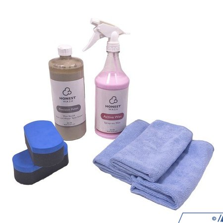 T#392967 - HWKT-15 - Honest Wash Spot & Oxidation Removal Kit - Get rid of spots and oxidation with the Honest Wash Spot and Oxidation Removal Kit. It uses a polish to remove the stain and a wax spray to restore shine, keeping the mirror-like finish.Kit includes:32oz bottle of Precision Polish32oz bottle of Active Wax2foam applicators3 microfiber towels - Honest Wash - BMW MINI