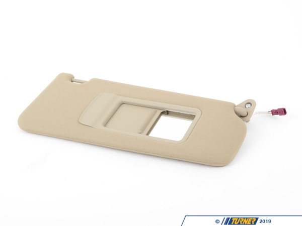 T#82705 - 51166957372 - Genuine BMW Sun Visor, Cloth Right Creambeige - 51166957372 - E92 - Genuine BMW -