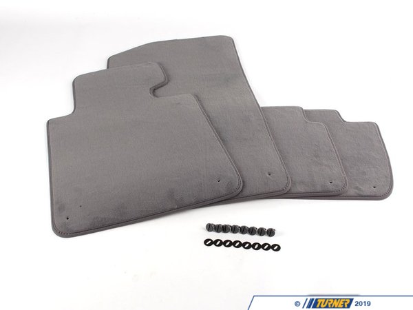 T#13896 - 51478227527 - Genuine BMW Set Of Floor Mats Velours Grau - 51478227527 - E46,E46 M3 - Genuine BMW -