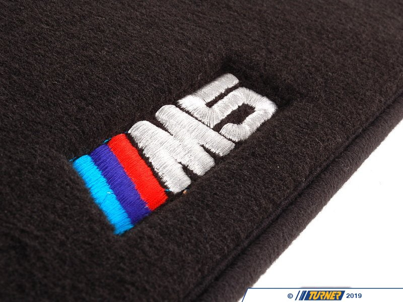 82110009046 Genuine Bmw E39 M5 Logo Floor Mats Black