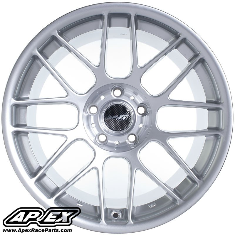 "T#180814 - ARC8178ET25HS - APEX ARC-8 17x8"" ET25 4x100 Hyper Silver Wheel 4 Lug 17.4lbs - APEX Wheels - BMW"